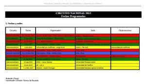 fechas 2013